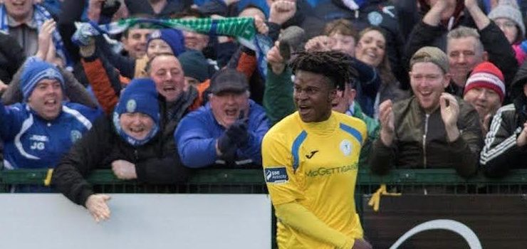 Finn Harps hopeful that BJ Banda won't require surgery as knee injury 'not as bad as feared'