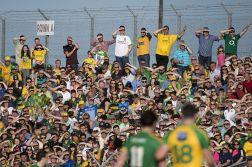 Part of the large crowd in Navan on Saturday. Photo Evan Logan