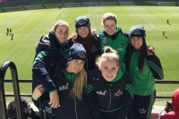 The six Irish Banshees players from Donegal in Melbourne.
