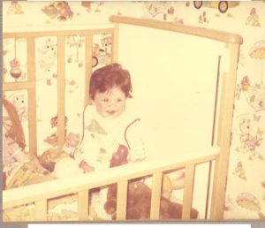 This photograph of Nicola was sent to Rowena by her adoptive parents on her first birthday