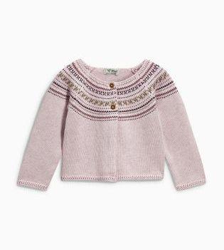 Purple Fairisle Pattern Cardigan Next €21-23.50