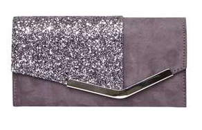 Dorothy Perkins Grey Bar Foldover Purse €22,00