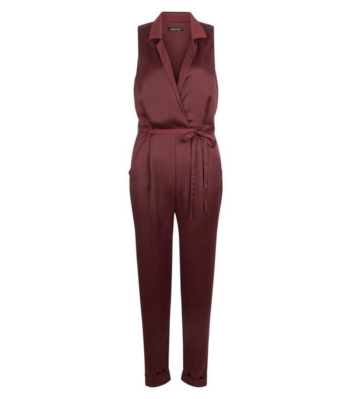New Look Burgundy Crepe Sleeveless Jumpsuit €39.99