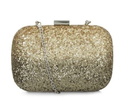 New Look Gold Glitter Box Shoulder Bag €22.99