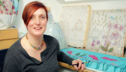 Donegal silk artist to show off her colours on TV