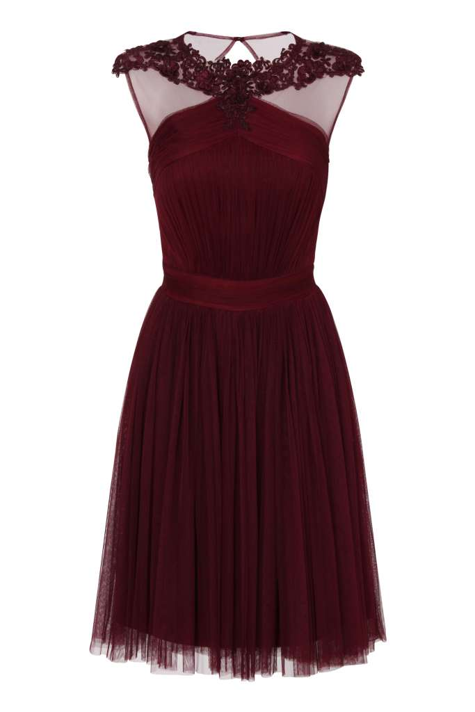 Little Mistress Maroon Lace And Mesh Prom Dress €105.40