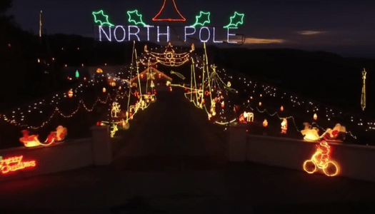 Video: Take a magical flight over a Christmas lights display
