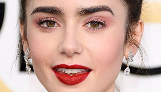 The secret to Lily Collins' romantic Golden Globes look