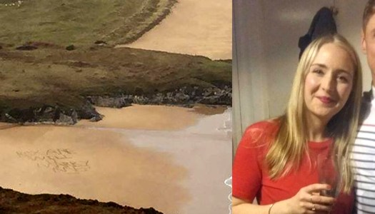 Donegal woman swept off her feet by beach proposal!