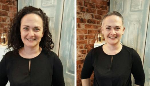 Deirdre's 'close shave' for Irish Cancer Society