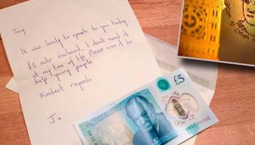 Donegal woman donates rare note worth almost €60,000 to young people's charity
