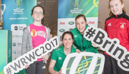 Women's Rugby stars get Donegal girls to give fitness a try