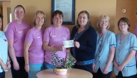 Team Annagry Lassies present wheelie generous charity donations
