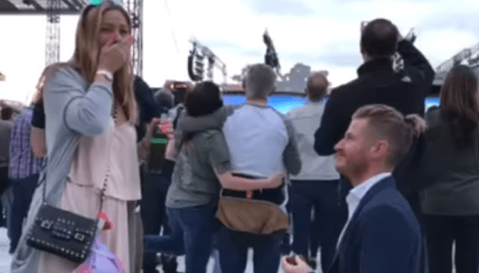 Watch: Man proposes to girlfriend at U2 in heart-warming video