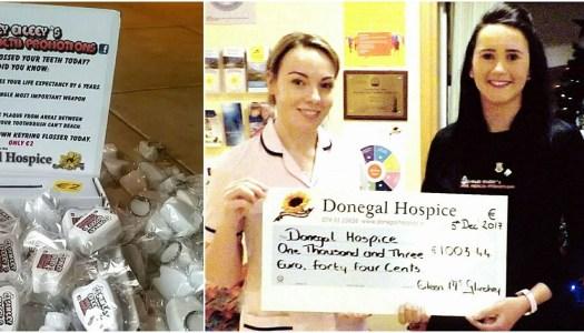 Dental nurse's bright idea raises €1,000 for Donegal Hospice