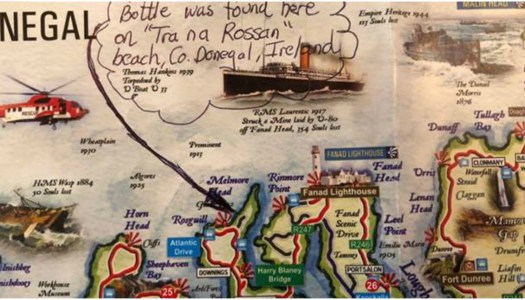 American girl (11) delighted as her message in a bottle is answered from Donegal