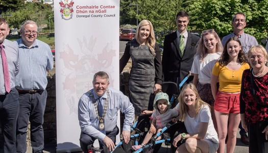 Family of baby Órla Trearty gifts beach wheelchair to Marble Hill