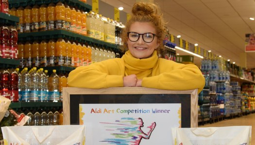 Laura 'bags' the prize in Aldi art contest