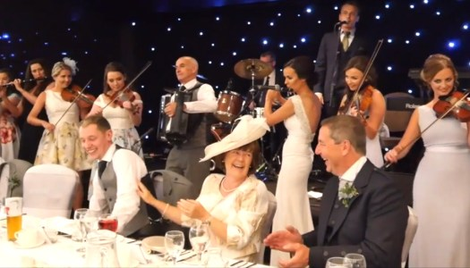 Watch: Father of the Bride's speech takes a surprise twist