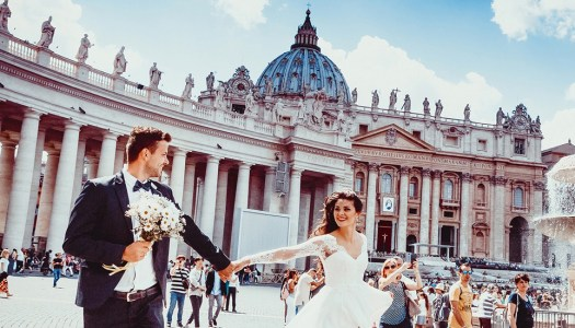 Priest suggests tax on brides with plunging necklines