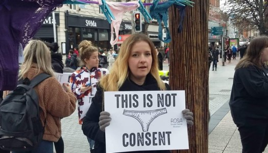 'This is not consent' – Thongs hung across Dublin in rape trial protest