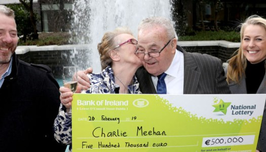 Farmer Charlie collects his €500K Lotto winnings