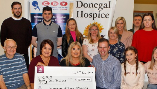 Incredible charity donations presented in memory of Sammy and Tory Johnston