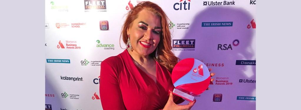 Leitir woman presented with NI Women in Business Award