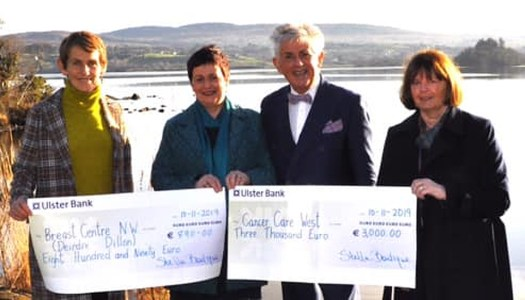 Stella McGroarty makes two superb donations to cancer funds