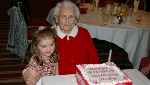 Big celebrations as Ruby Druce turns 104 on New Year's Eve
