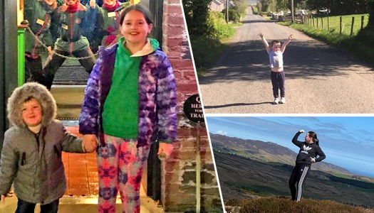 Amazing active cousins walking 150km in memory of grandparents