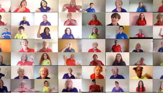 Watch: Donegal's Ceol le Chéile choir tune in on Zoom
