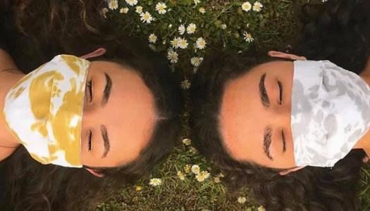 Creative sisters making face masks fashionable
