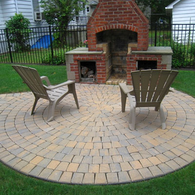 li patio installation stone concrete