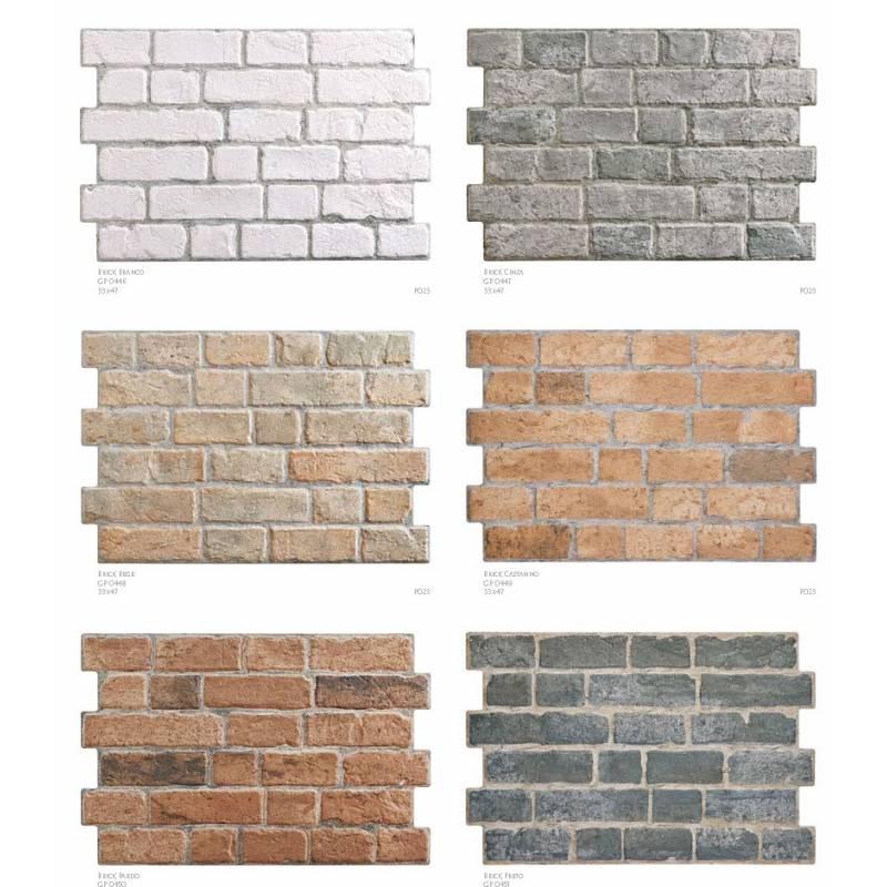carrelage aspect brique 33x47cm brick