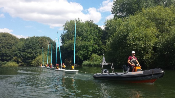 We got towed out into the river Itchen