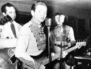 Willie Nelson as bass player with Ray Price´s Cherokee Cowboys