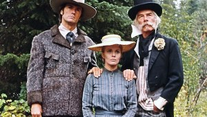 Clint Eastwood, Jean Seberg, and Lee Marvin in Paint Your Wagon, 1969.