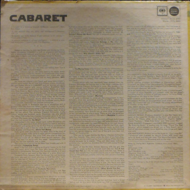 cabaret musical analysis
