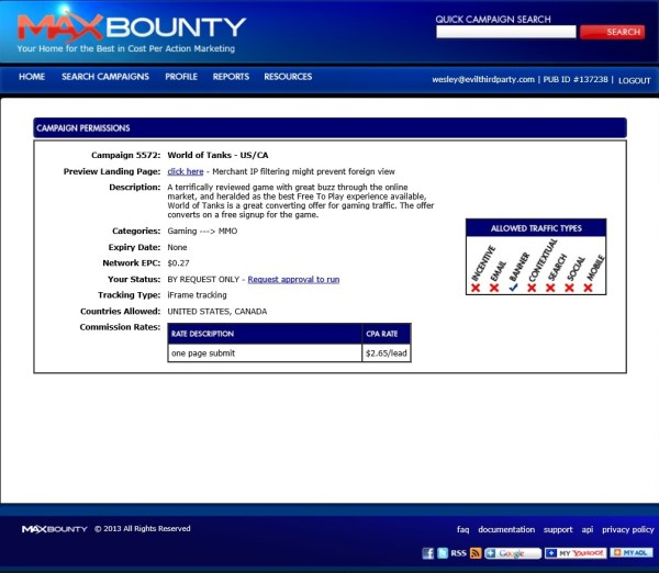 Maxbounty Approval Tips