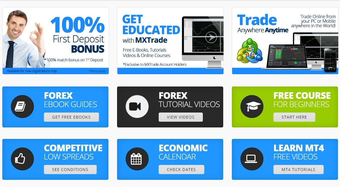 "100% Deposit Bonus in ""mxtrade"" Forex Broker"