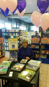 Donna Love at December book signing at Barnes and Noble