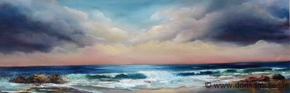 Sea to Shore - Oil on Block Canvas 36 x 12 inches