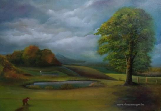 Foxy Caddie - 20 x 30 inches - Oil on Canvas