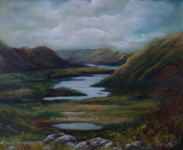 "Irish landscape artist Ladies View 10x12"" Oil on board"
