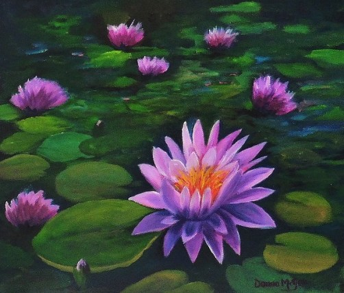 My Lilly Pond - Oil on Canvas 10 x 12 inches