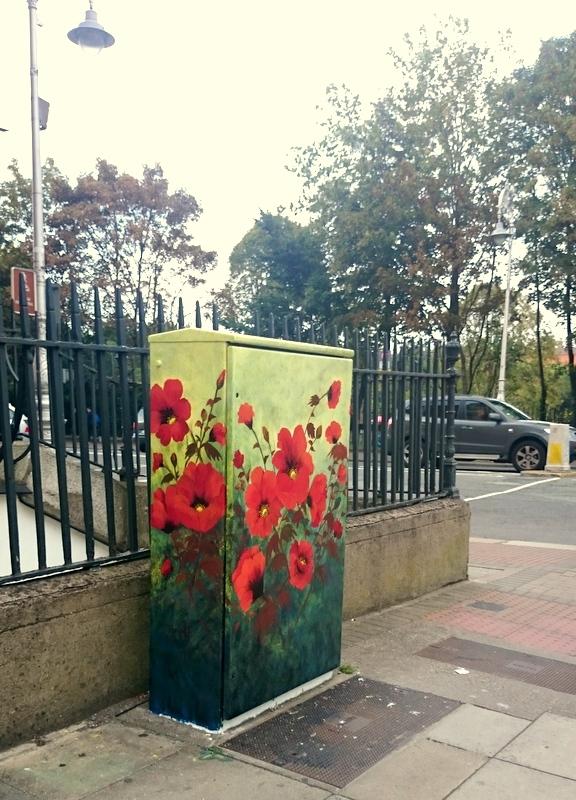 Poppy corner street art Dublin