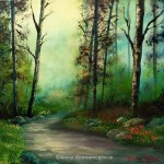 iRISH LANDSCAPSE ART A Time to Walk - Oil on Canvas 10 x 12 inches