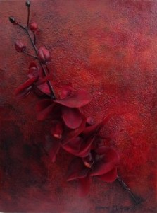 Flame Red Abstract Art, red texture, red flowers