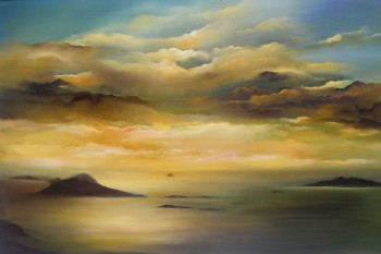 Irish Art - my-plein-air-dingle-trip - Blasket Islands, Irish skyline, Kerry, west coast of Ireland